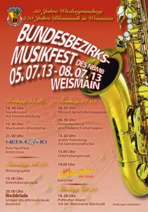Bundesbezirksmusikfest Karte