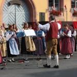 Eröffnet wurde das Bundesbezirksmusikfest mit einem Standkonzert vor dem Rathaus.