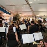 MV Ebensfeld spielt als Gastkapelle im Zelt