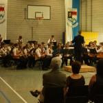 Ein Blasorchester beim Vortrag